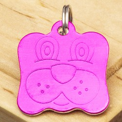 Dog Identity Tag Pink