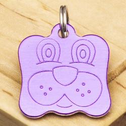 Dog Identity Tag Purple