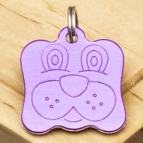 Dog Identity Tag Purple