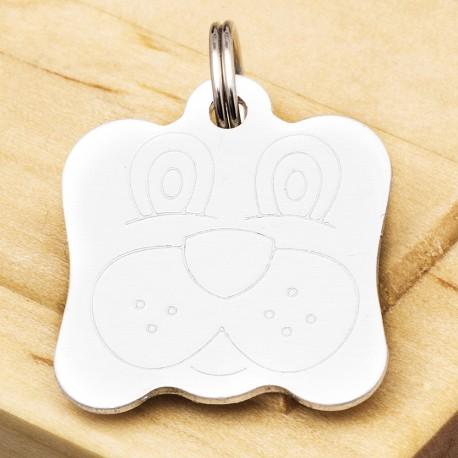 Dog Identity Tag Silver
