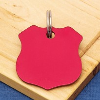 Shield Double Sided Pet ID Tag Red