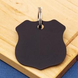 Shield Pet ID Tag Black Aluminium