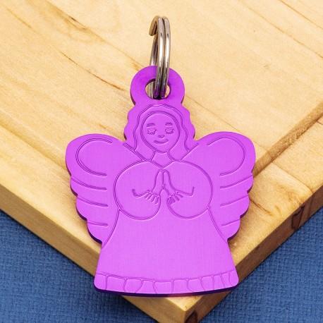 Angel Pet ID Tag Purple