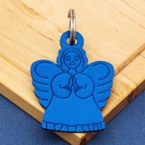 Angel Pet ID Tag Blue