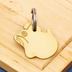 Brass Mouse Pet Tag