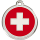 Swiss Flag Pet Tag