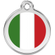 Italian Flag Pet Tag