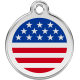 U.S.A. Flag Pet Tag