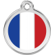 French Flag Pet ID Tag