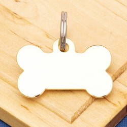 Gold Plated Bone Pet Tag