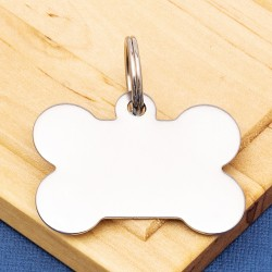 Stainless Steel Bone Pet Tag Large