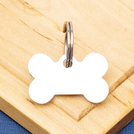 Stainless Steel Bone Pet Tag Small
