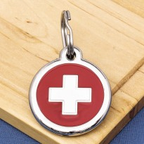 Swiss Flag Pet ID Tag