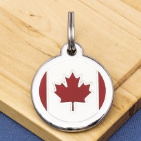 Canadian Flag Pet ID Tag