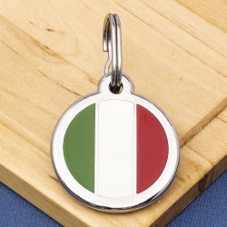 Italian Flag Pet Tag