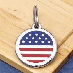 U.S.A. Flag Pet Tag
