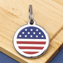 U.S.A. Flag Pet ID Tag
