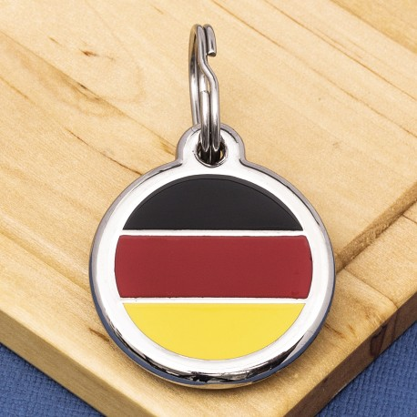 German Flag Pet ID Tag