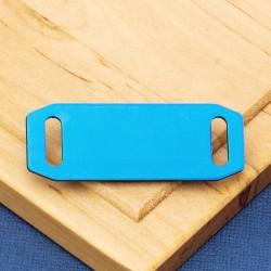 Small Agility Pet Id Tag Blue Aluminium