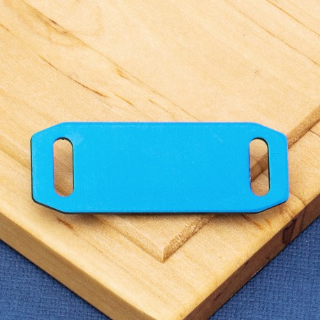Small Agility Pet Id Tag Blue Aluminium