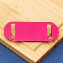 Medium Agility Slide On Pet Id Tag Red