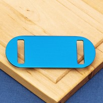 Medium Agility Slide On Pet Id Tag Blue