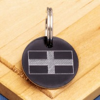 Cornish St Pirans Flag Pet Id Tag