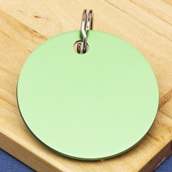 Green Disc Pet Id Tag