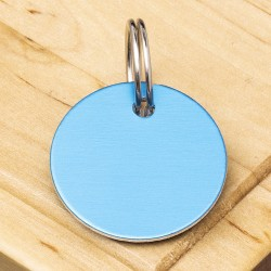 Blue Disc Pet Id Tag