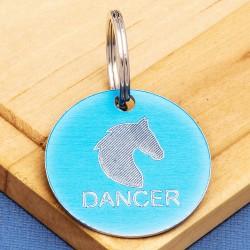 Horse Tack Bridle Saddle Tag Blue