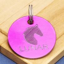 Horse Tack Bridle Saddle Tag Pink