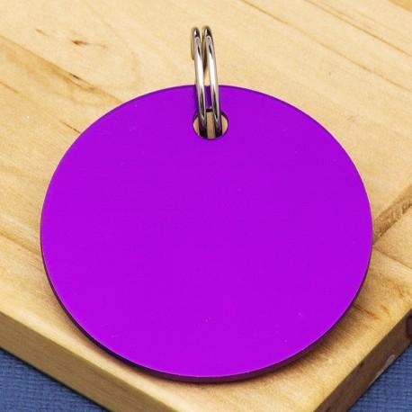Purple Disc Pet Id Tag