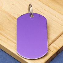 Purple Engraved Dog Tag