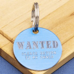 Wanted Pet Id Tag