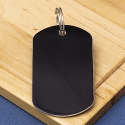 Black Engraved ID Tag