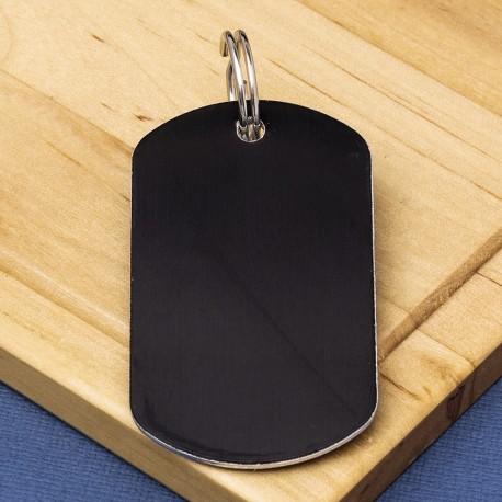 Black Engraved Dog Tag