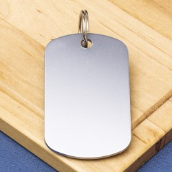 Silver Engraved Military ID Tag