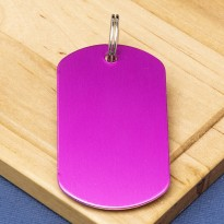 Pink Engraved ID Tag