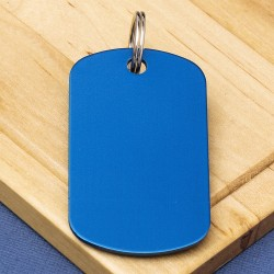 Blue Engraved Dog Tag