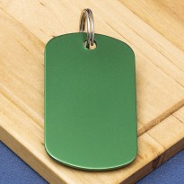 Green Engraved Dog Tag