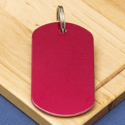 Red Engraved Dog Tag