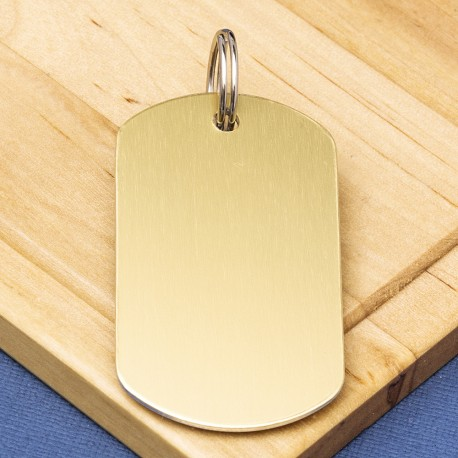 Gold Engraved Dog Tag