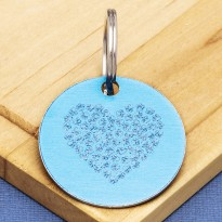 Engraved Hearts Pet Id Tag