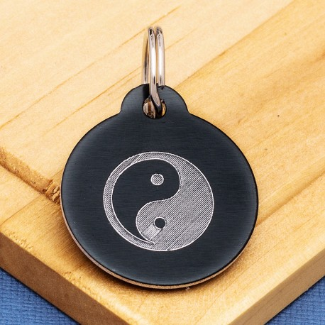 Ying and Yang Pet Id Tag