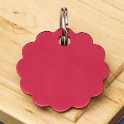 Cloud Pet Id Tag 32mm Red
