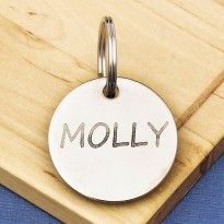 30mm Nickel Plated Pet Id Tag