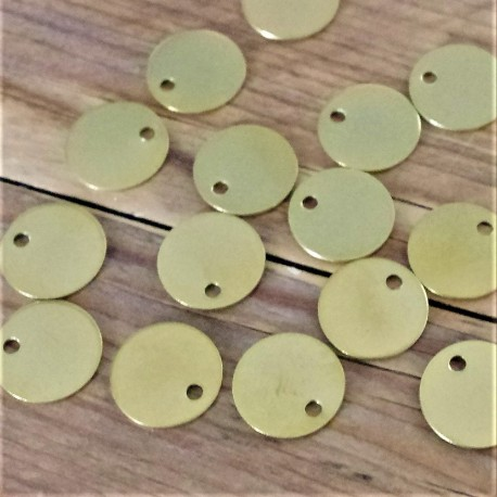 70 Engraved Brass Pet Tags 20mm