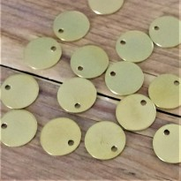 100 Engraved Brass Pet Tags 20mm