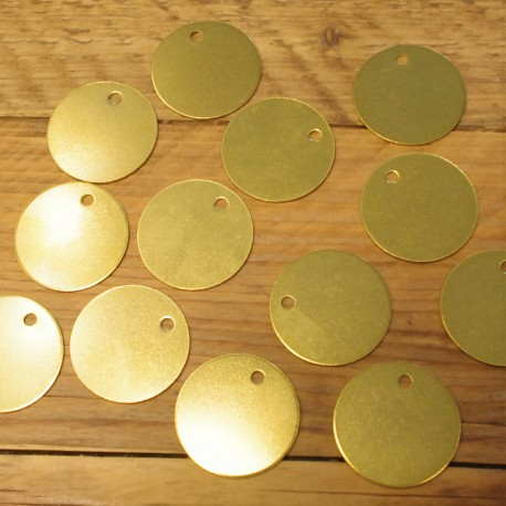 10 Engraved Brass Pet Tags 20mm