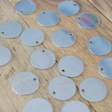 20 Engraved Nickel Pet Tags 30mm